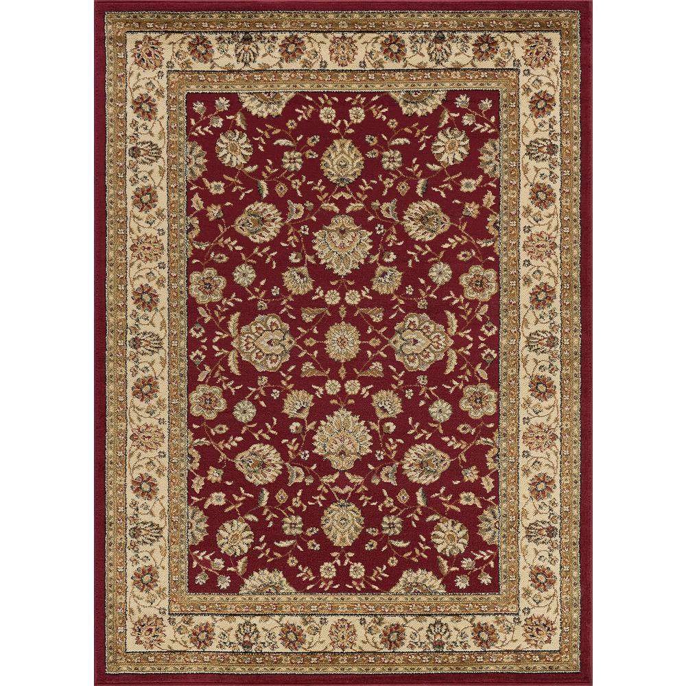 Tayse Rugs Elegance Red 9 Ft X 13 Ft Indoor Area Rug