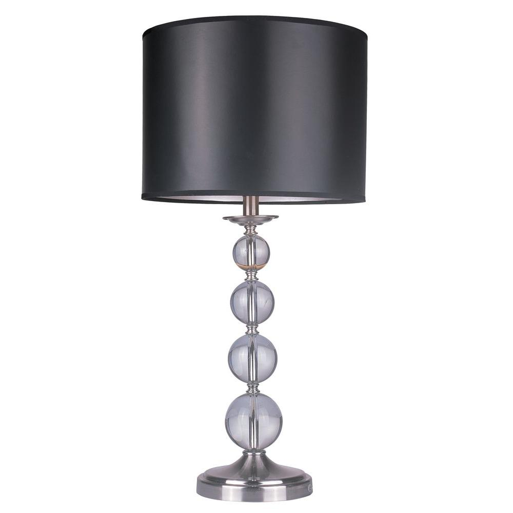 Tulen Lawrence 28.75 in. Satin Nickel Incandescent Table Lamp-DISCONTINUED