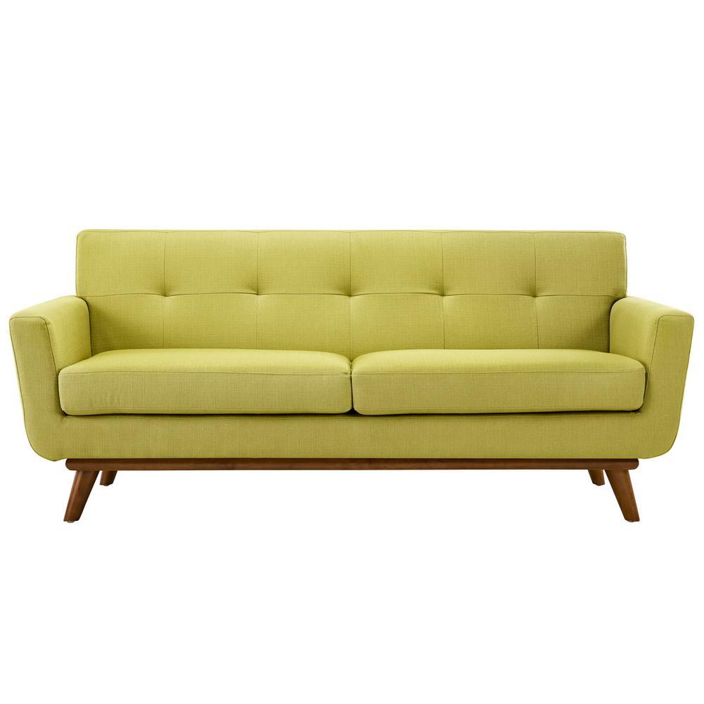 Engage Wheatgrass Upholstered Fabric Loveseat