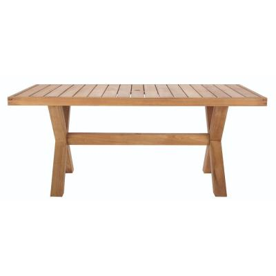 Naples Teak Rectangular Outdoor Dining Table