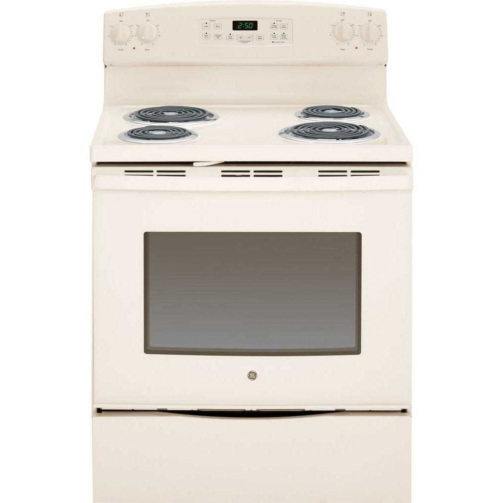 GE 5.3 cu. ft. Electric Range with Self-Cleaning Oven in ...