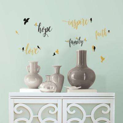 5 In. W X 11.5 In. H Inspirational Words With Birds 11 Piece