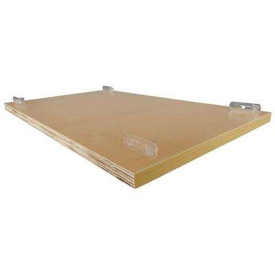 10.25x0.75x21.75 in. Shelf Kit for Base 12 Cabinet in Light Wood Grain