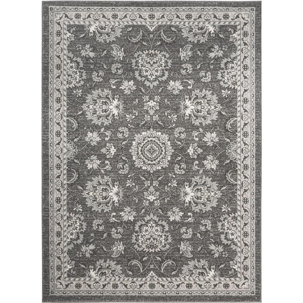 8x10 Area Rugs Gray And White: Tayse Rugs Kensington Gray 7 Ft. 10 In. X 10 Ft. 3 In