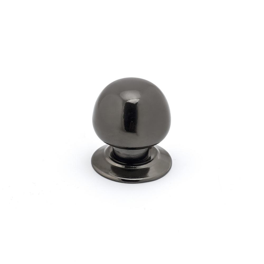 1-5/16 in. (33 mm) Black Nickel Functional Metal Cabinet Knob
