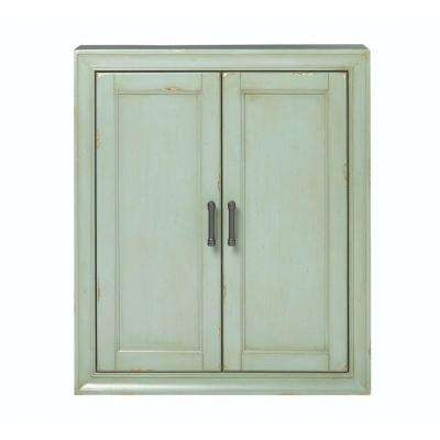 Hazelton 25 in. W x 28 in. H x 8 in. D Bathroom Storage Wall Cabinet in Antique Green