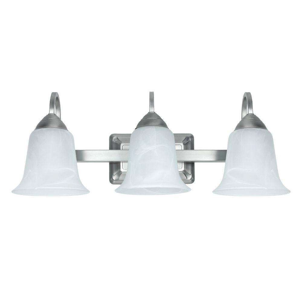 null 3-Light 26-Watt Brushed Nickel LED Vanity Fixture