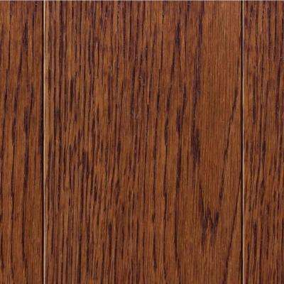 Take Home Sample - Wire Brush Oak Toast Solid Hardwood Flooring - 5 in. x 7 in.