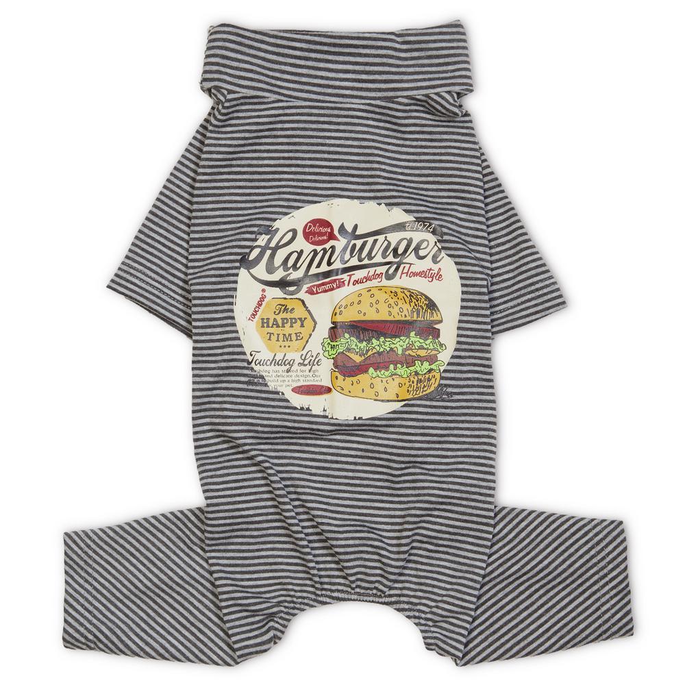 X-Small Grey Onesie Lightweight Breathable Printed Full Body Pet Dog T-Shirt Pajamas