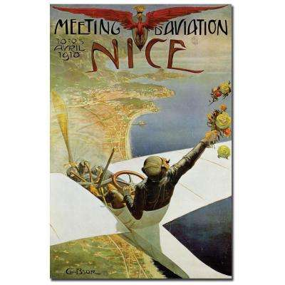 18 in. x 24 in. Meeting Aviation Nice By Charles Brosse Canvas Art