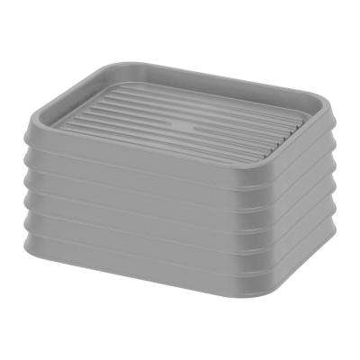 2-Pair Shoe Organizer Tray in Gray (6-Pack)