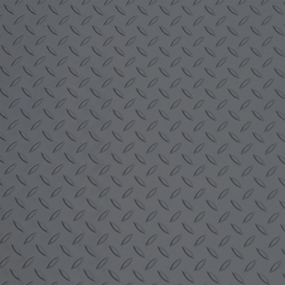 7.5 ft. x 1 ft. Battleship Gray PVC Garage Flooring