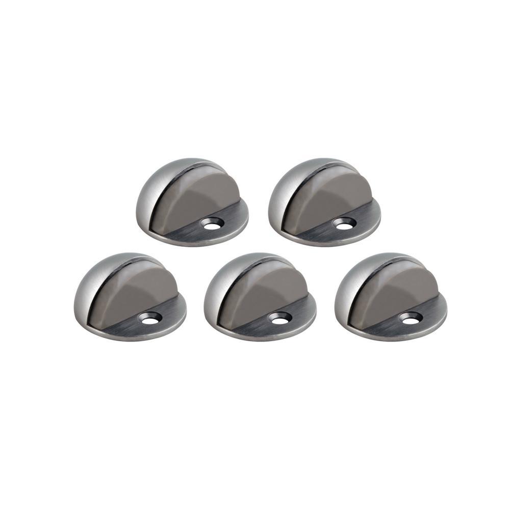 Satin Nickel Floor Mount Dome Door Stop Value Pack (5 per Pack)