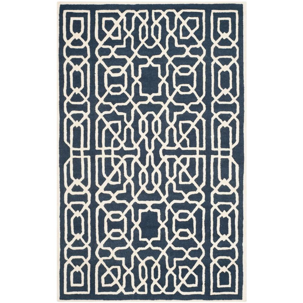Safavieh Cambridge Navy/Ivory 8 ft. x 10 ft. Area Rug