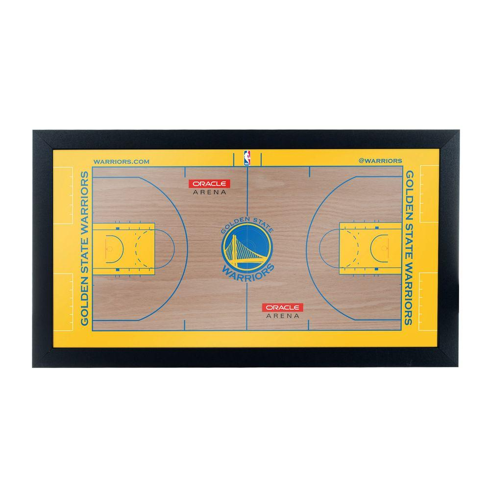 Golden State Warriors Official NBA Court 15 in. x 26 in.