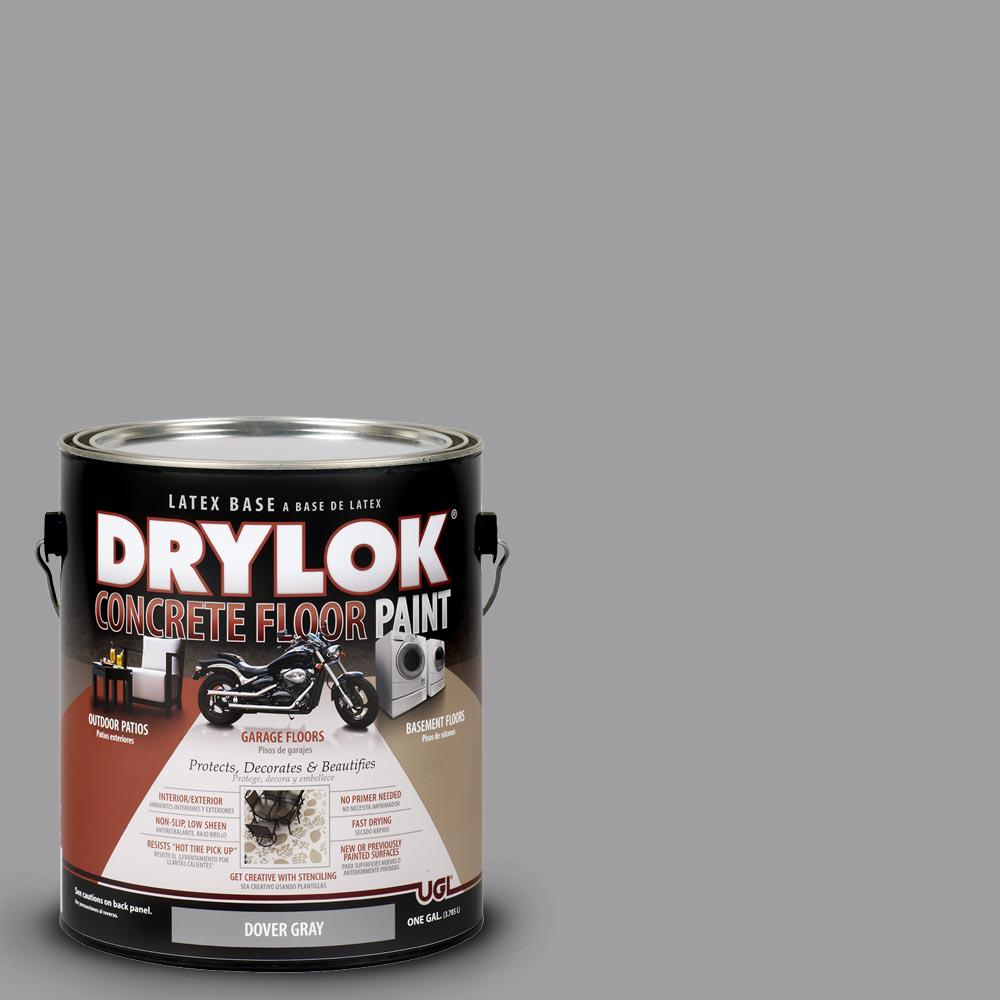 DRYLOK 1 gal. Dover Gray Latex Concrete Floor Paint-209155 - The ...