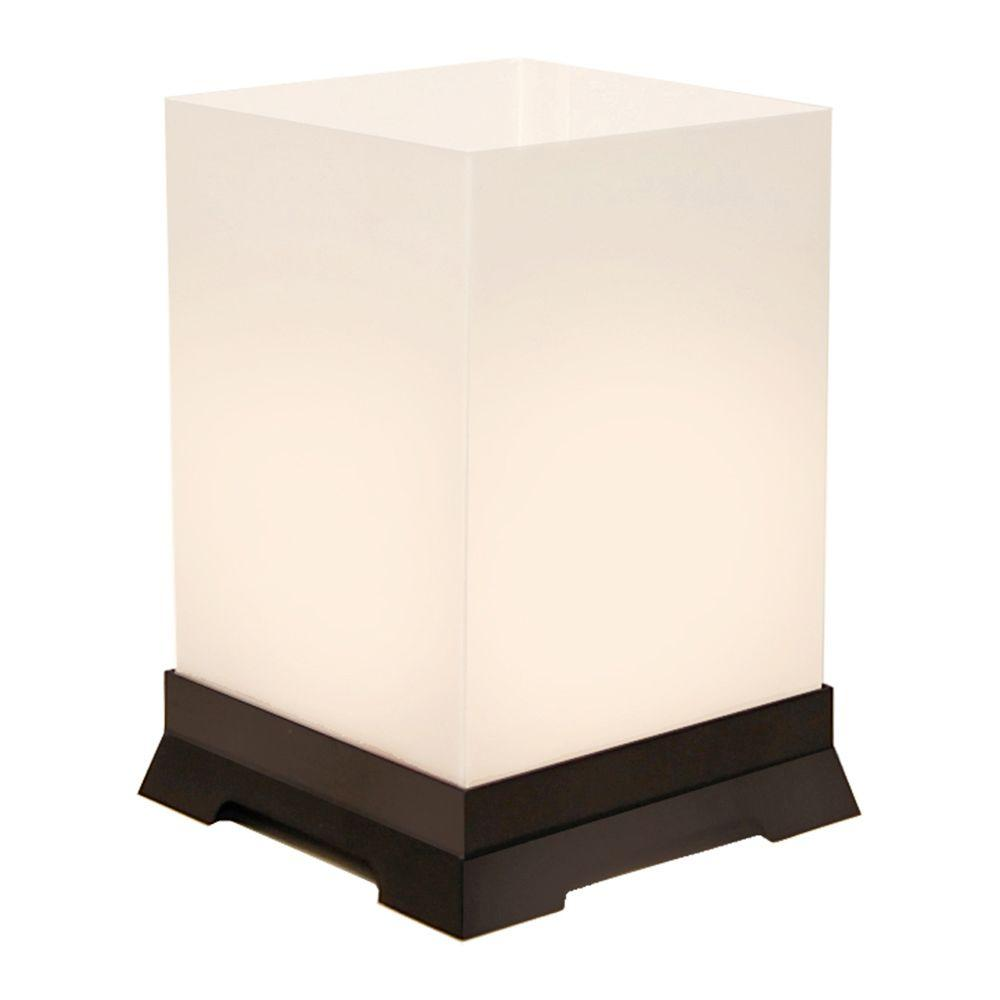 Lumabase Table Top Lanterns with Black Base (12-pack), White