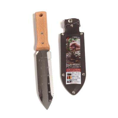 7.25 in. Japanese Hori Garden Landscaping Digging Tool with Stainless Steel Blade and Sheath