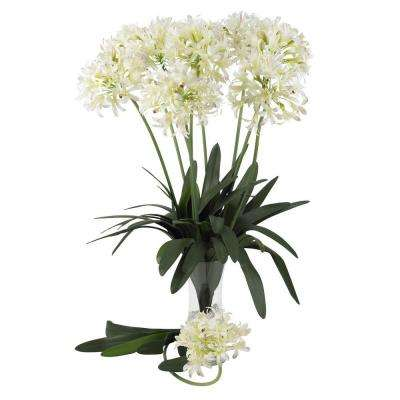29 in. H White African Lily Stem (Set of 12)