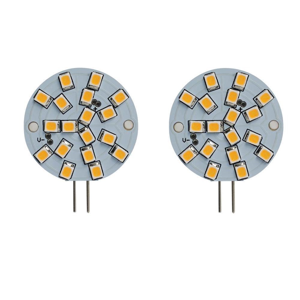 20-Watt Equivalent Wafer Non-Dimmable Bi-Pin (G4) LED Light Bulb Soft White Light (2-Pack)