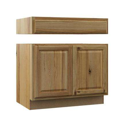 Hampton Assembled 36x34.5x24 in. Accessible ADA Sink Base Kitchen Cabinet in Natural Hickory