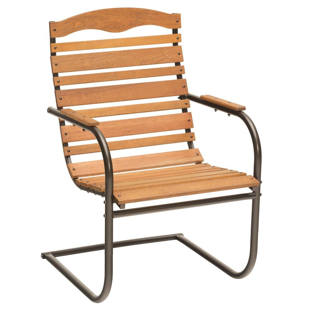 Jack post brown patio spring chair 08100414 the home depot for Outdoor chairs for sale