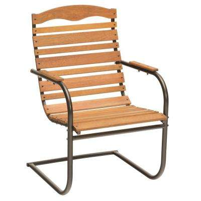 brown patio spring chair jack post