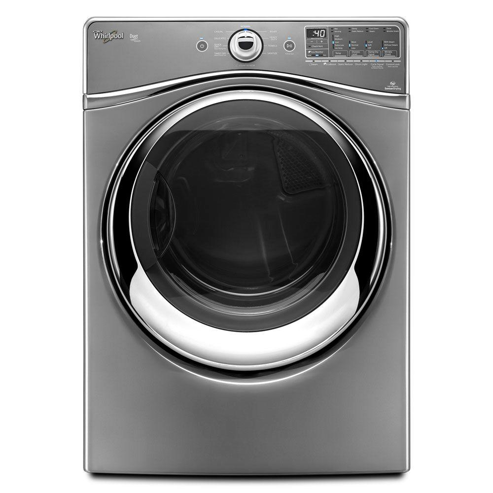 Whirlpool Duet 7.4 cu. ft. Gas Dryer with Steam in Chrome Shadow-DISCONTINUED