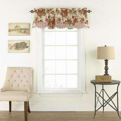 16 in. L Norfolk Cotton Lined Window Valance in Tea Stain