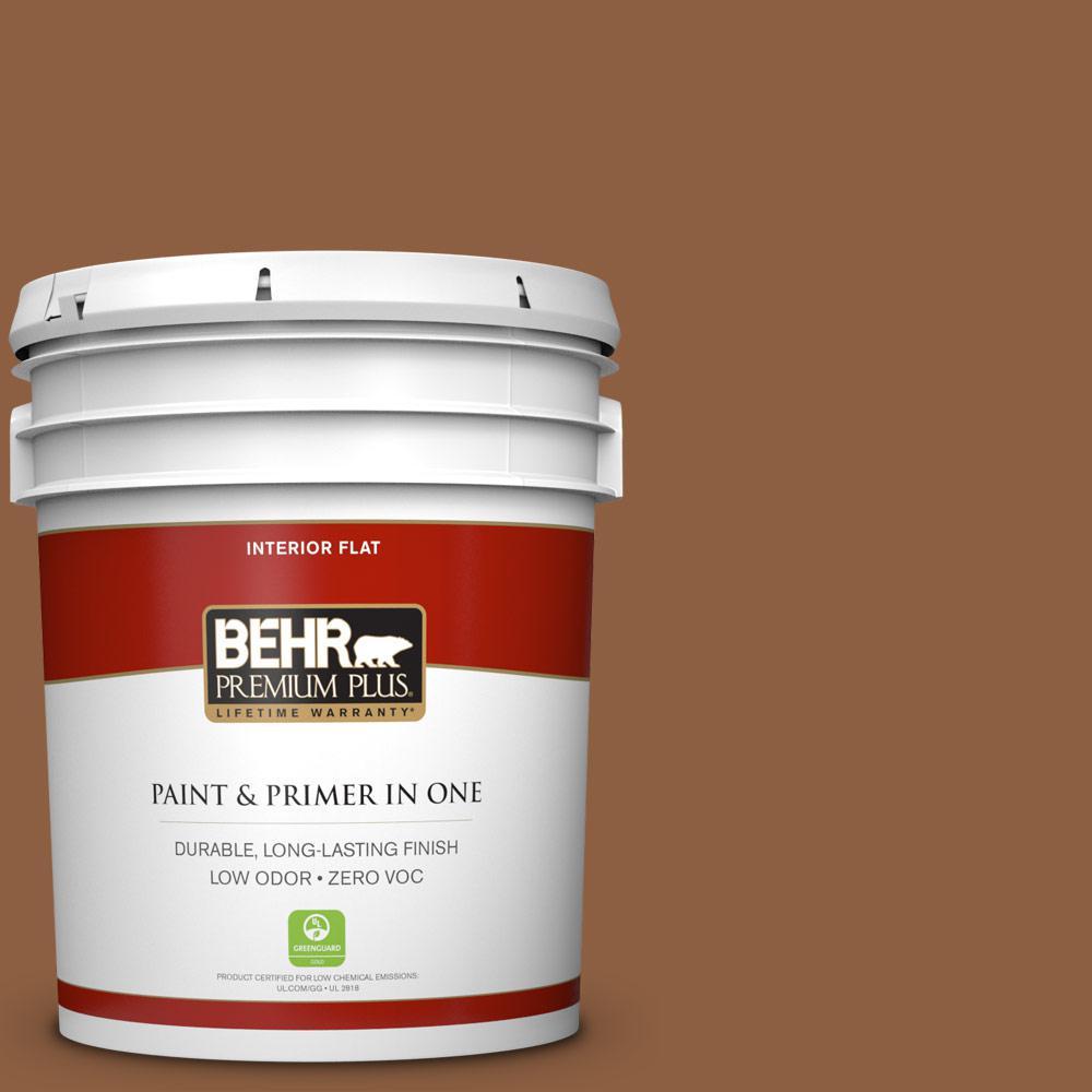 5 gal. #260F-7 Caramel Latte Zero VOC Flat Interior Paint