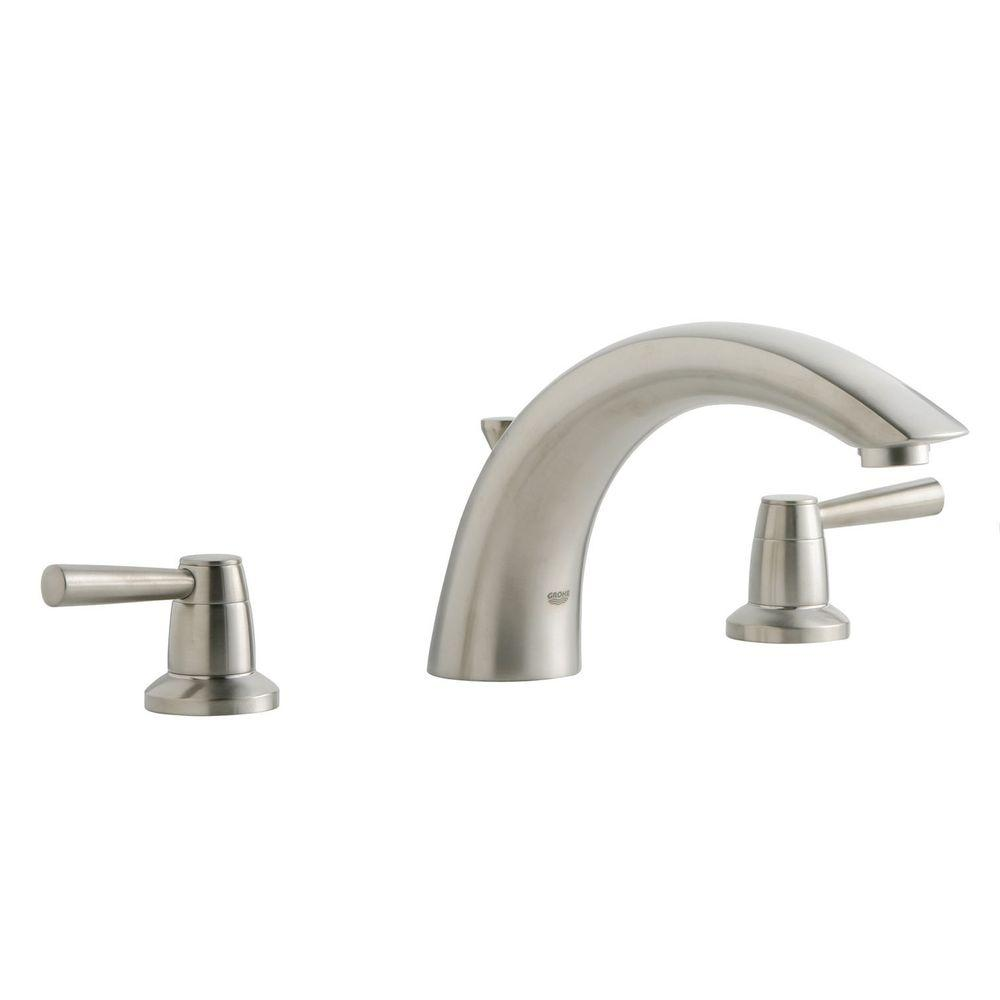 GROHE Arden 2-Handle Roman Bathtub Faucet in Brushed Nickel ...