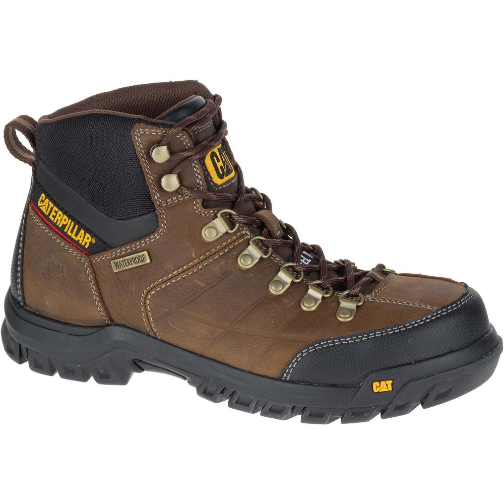 Cat Footwear Threshold Mens Size 12w Brown Waterproof Steel Toe