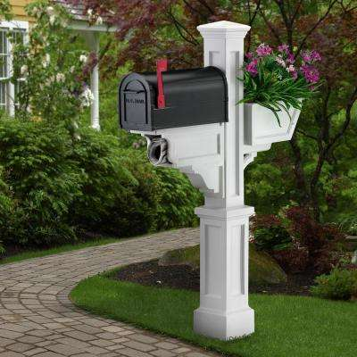 Signature Plus Plastic Mailbox Post, White