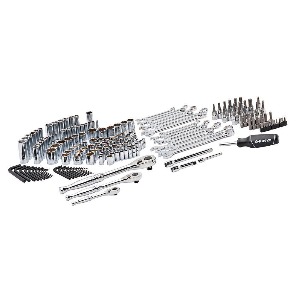 husky mechanics tool set 185 piece h185mtsn the home depot. Black Bedroom Furniture Sets. Home Design Ideas