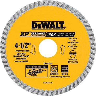 4-1/2 in. Concrete and Brick Diamond Circular Saw Blade