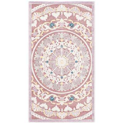 Paradise Purple/Cream 2 ft. 3 in. x 4 ft. Area Rug
