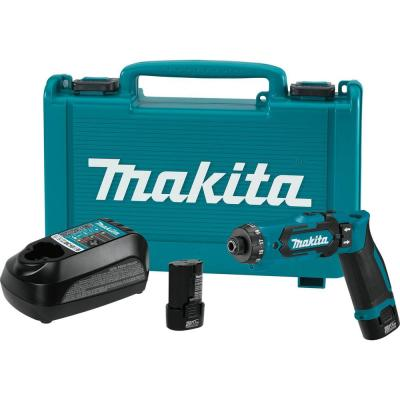 7.2-Volt Lithium-Ion 1/4 in. Cordless Hex Driver-Drill Kit with Auto-Stop Clutch