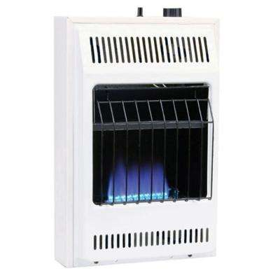10000 BTU Blue Flame Vent-Free Natural Gas Wall Heater with Built-In Thermostat