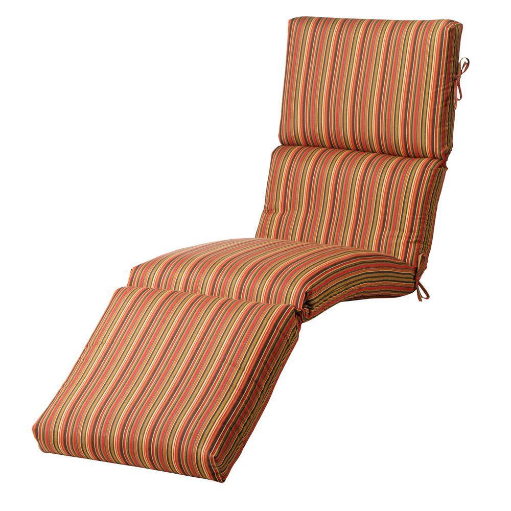 Home Decorators Collection Sunbrella Dorsett Cherry Outdoor Chaise Lounge Cushion