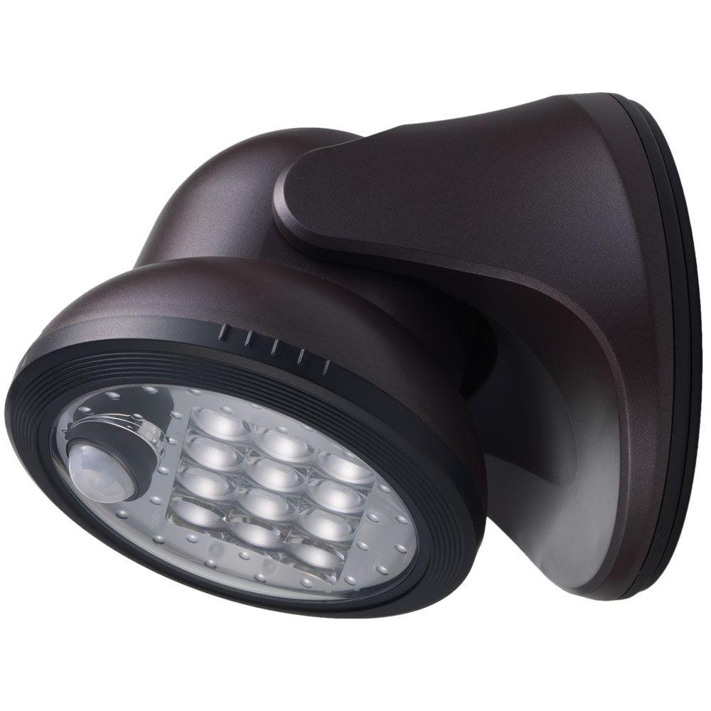 los angeles 700ef 74d71 Light It! Bronze 12-LED Wireless Motion-Activated Weatherproof Porch Light