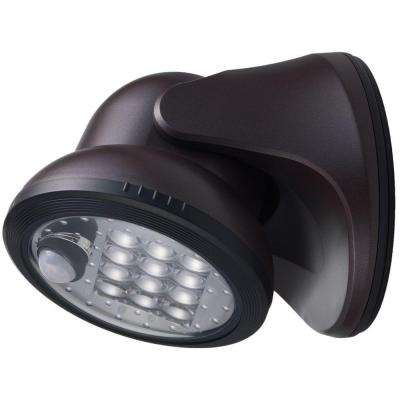 Bronze 12-LED Wireless Motion-Activated Weatherproof Porch Light