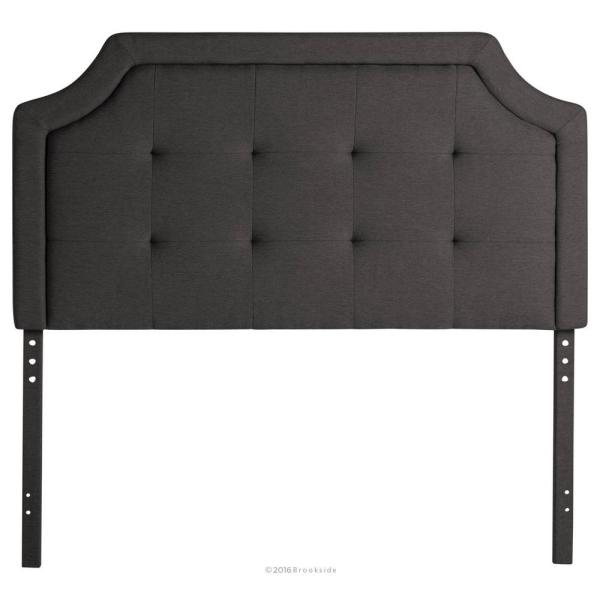 Upholstered Scoop-Edge King/Cal King Headboard with Square Tufting