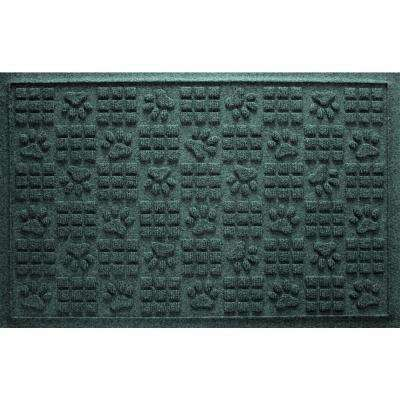 Evergreen 24 in. x 36 in. Dog Paw Squares Pet Mat