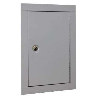Mid-Sized In Wall Key Lock Security Cabinet, Beige
