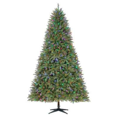 9 ft. Pre-Lit LED Matthew Fir Quick Set Artificial Christmas Tree with Color Changing Lights