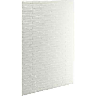 Choreograph 0.3125 in. x 60 in. x 96 in. 1-Piece Shower Wall Panel in Dune with Brick Texture for 96 in. Showers