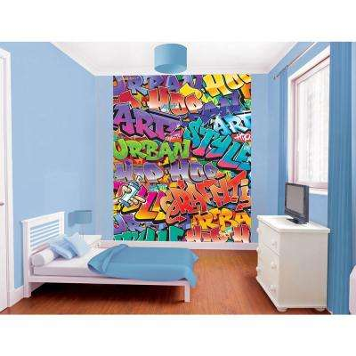 96 in. H x 78 in. W Graffiti Wall Mural
