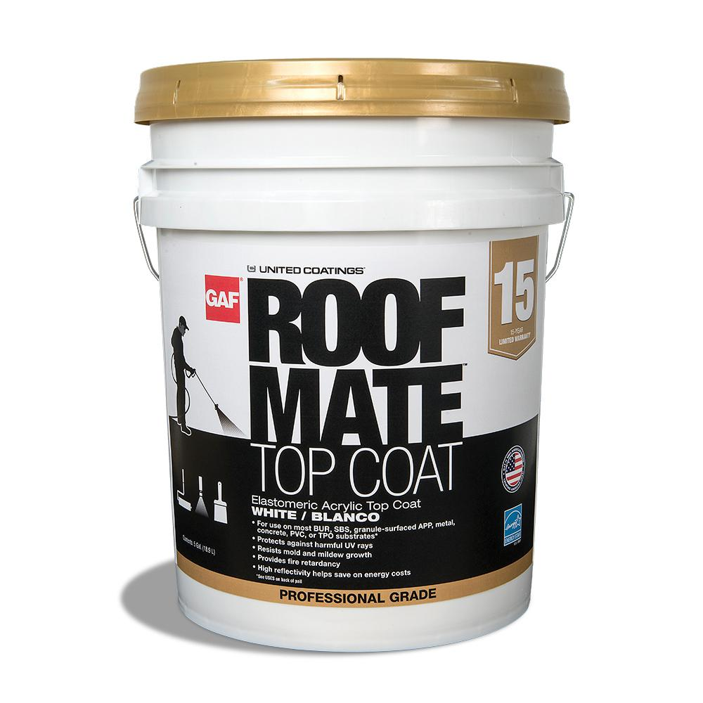 White Roof Mate Top Coat Reflective Coating
