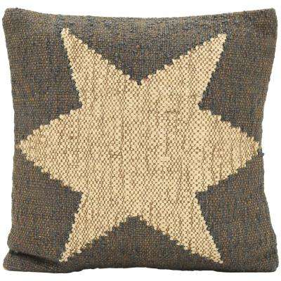 Wool Jute Cushion with Polyfill Filler