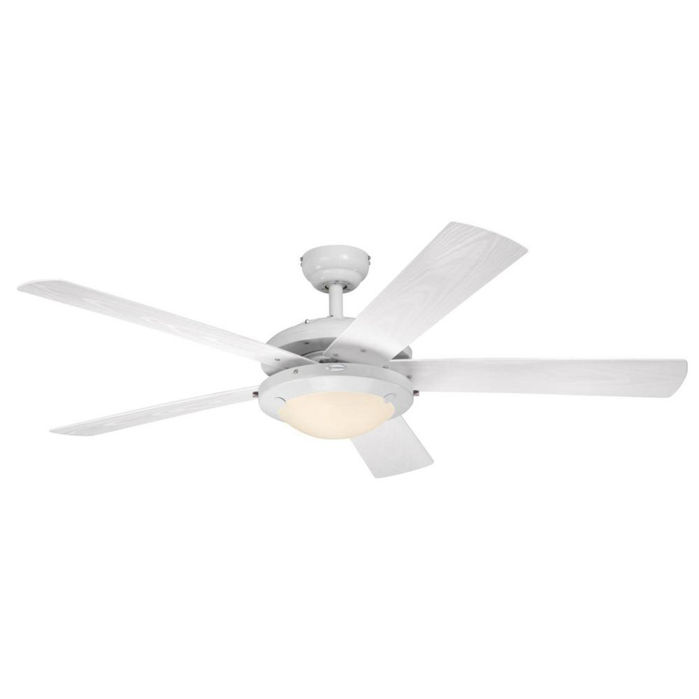 Comet 52 in. Indoor/Outdoor White Ceiling Fan